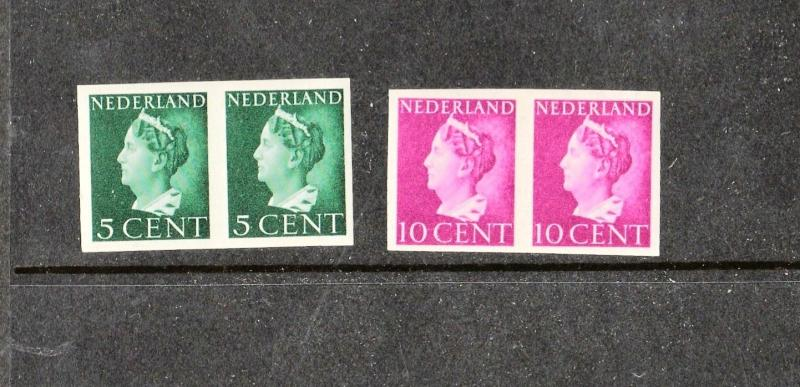Netherlands 1940's Imperforated pairs Issues (German Occupation) VF MNH
