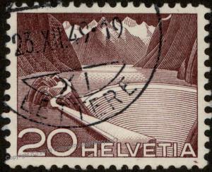 Switzerland Swiss Scenery Scott 332c Zumstein 301 Used Stamp 59200