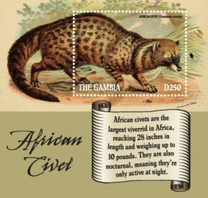 Gambia 2019 2019 African Civet (ss/1v)