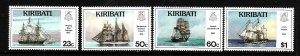 Kiribati-Sc#687-90-Unused NH set-Sailing Ships-1996-please note that there is a