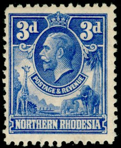 NORTHERN RHODESIA SG5, 3d ultramarine, LH MINT.