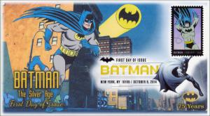 NEW Batman The Silver Age Digital Color Postmark FDC 14-179