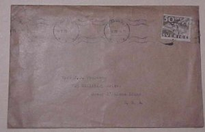 SWEDEN COVER 1936 TO USA 50ore