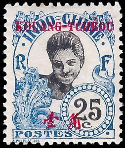 France-Kouang Tcheou 1908 YT 25 mlh