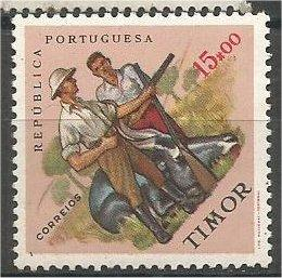 TIMOR, 1962, MNH 15e, Sports Issue. Big game hunting. Scott 318