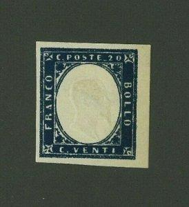 Italian States:  Cohn Forgery of Sardinia 1862 20c Scott 12 Mint Hinged