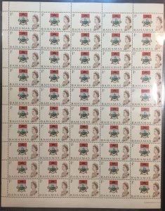 Bahamas #252 MNHOG VF (A21) (1/2 sheet) Queen Elizabeth 1967 1c