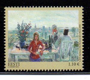 Estonia Sc 743 2013 Kits Painting stamp mint NH