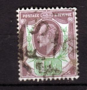 J18250 JLstamps 1902 great britain used #129 king