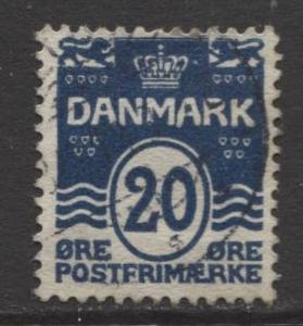 Denmark - Scott 64 - Definitive Issue -1905 - Used - Single 20o Stamp