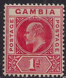 Gambia 1904 - 06 KEV11 1d Carmine Umm SG 58 ( F884 )