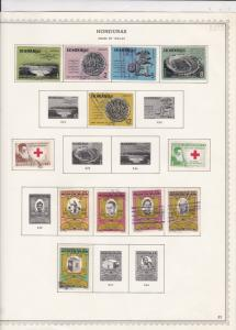 honduras issues of 1964-65 stamps sheet ref 17789