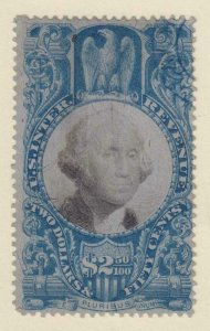UNITED STATES R124 REVENUE STAMP  USED - NO FAULTS VERY FINE!