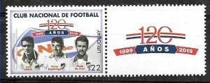 URUGUAY 2019 SPORTS FOOTBALL SOCCER NACIONAL FOOTBALL CLUB  SET WITH LABEL MNH