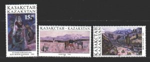 Kazakhstan. 1995. 91-93 from the series. Painting, paintings. MNH.