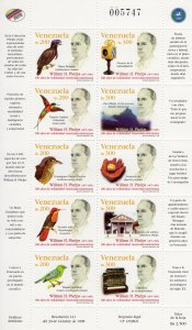 VENEZUELA 1998 Sc#1609 BIRDS-WILLIAM PHELPS Sheetlet (10) MNH
