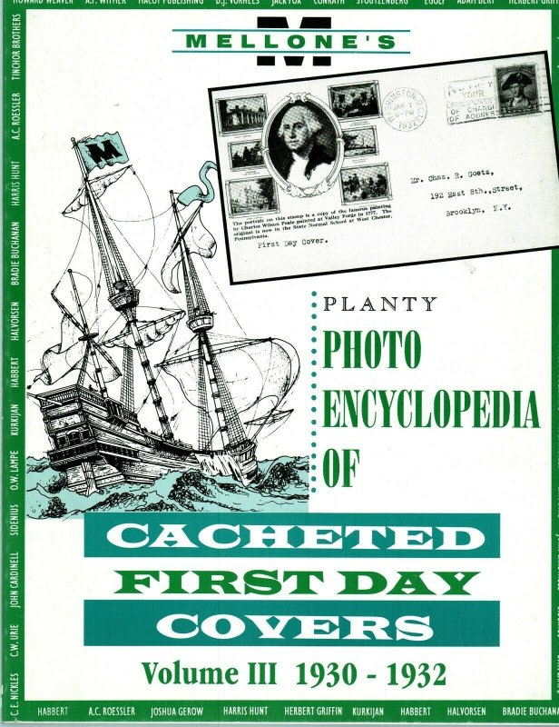 Mellone Planty Photo Encyclopedia First Day Covers 1930-32 Volume III Bound