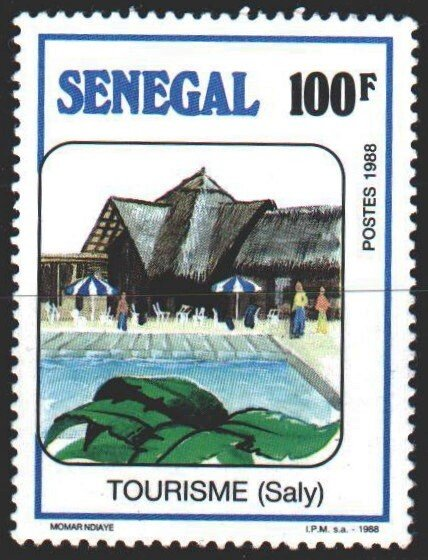 Senegal. 1989. 1006 from the series. Tourism, hotel. MVLH.