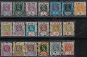Gambia 1904-1909 SC 41-64,42a Mint SCV $503.50 Set