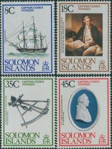 Solomon Islands 1979 SG372-375 Captain Cook's Voyages set MLH