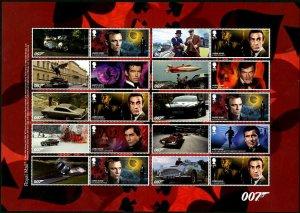 HERRICKSTAMP NEW ISSUES GREAT BRITAIN James Bond Self-Adh. Smiler Sheet