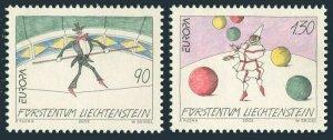 Liechtenstein 1225-1226,MNH. EUROPE CEPT-2002.Circus.Tightrope walker,Juggler.