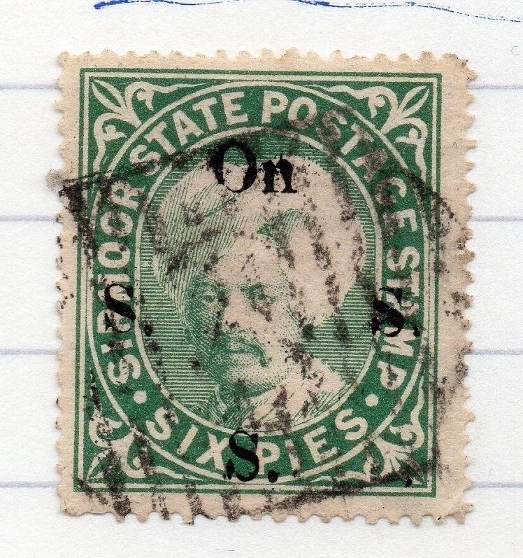 Sirmoor Indian States 1890s Early Issue Fine Used 6p. Optd 207649