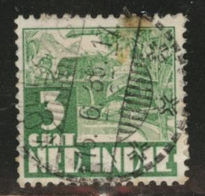 Netherlands Indies  Scott 167 used from 1934 stain
