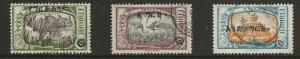 Ethiopia  (1927)  - Scott # 151, 149, 153  Used   (See footnote)