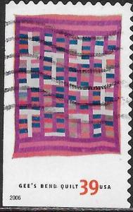 US 4094 Used - American Treasures Series - Gee's Bend Quilts - Arlonzia Pettway