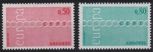 Andorra - French Issues 205-206 MNH (1971)