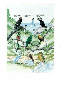 Maldives MNH S/S 9704 Gorgeous Birds Fauna 9 Stamps