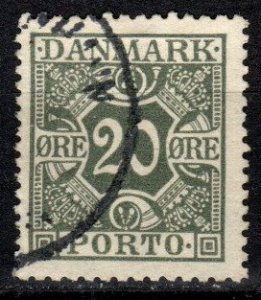 Denmark #J18  F-VF Used  CV $5.00 (V5401)