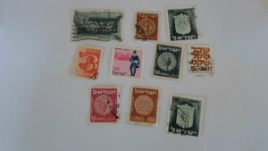 ISRAEL STAMPS MIXED CONDITION. LOT OF 10 STAMPS ( 1)