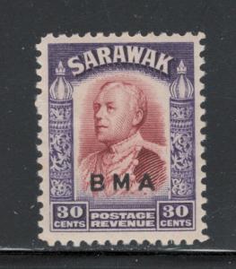 Sarawak 1945 Sir Charles Vyner Brooke Overprint 30c Scott # 147 MH