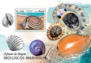 Z08 ANG18101b ANGOLA 2018 Marine shells of Angola MNH ** Postfrisch