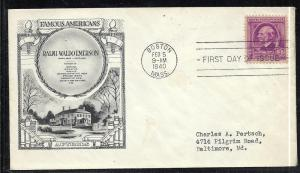 US #861-6 Emerson Historic Arts addressed