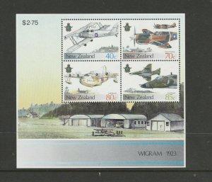 New Zealand 1987 RNZAF MS ( Aircraft ) UM/MNH SG 1427