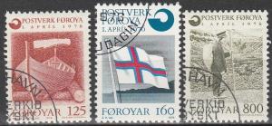 Faroe Is #21-3 F-VF Used CV $3.50  (V2118)