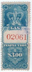 (I.B) Canada Revenue : Gas Inspection $3