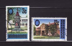 Barbados 330, 336 U Montefiore Drinking Fountain, Museum