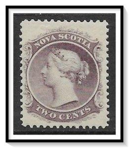 Nova Scotia #9 Queen Victoria MH