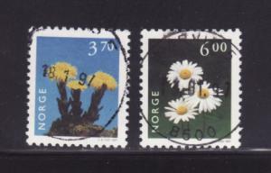 Norway 1149, 1152 U Flowers (B)