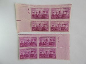 U. S. #1067 Plate Blocks  MINT 2 blks w/consecutive numbers  OG  NH