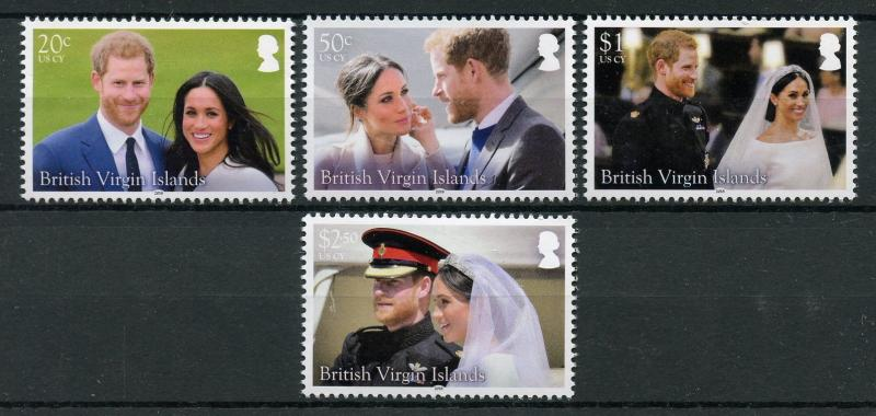 British Virgin Islands BVI 2018 MNH Prince Harry & Meghan 4v Set Royalty Stamps