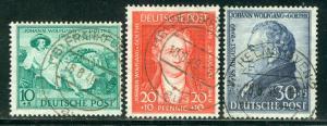 Germany AM-Post Scott # B306 - B308, used