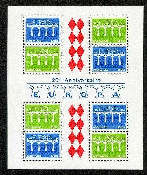 Monaco Scott 1425a Mint NH (Catalog Value $20.00) - 1984 Europa