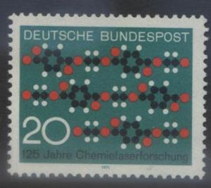 GERMANY. -Scott 1054 -Molecule Pattern - 1971- MNH - Single 20pf Stamp1