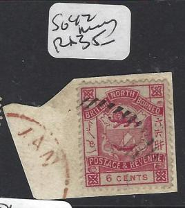 NORTH BORNEO (PP2512B)  3C LION, CREST PIECE   SG  42   VFU
