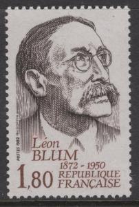FRANCE SG2554 1982 110th BIRTH ANNIV OF LEON BLUM(POLITICIAN) MNH